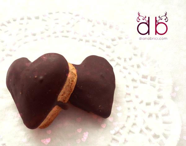 inimioare de turta dulce cu ciocolata