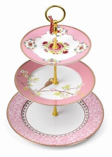 Suport prajituri etajat roz - Floral Rose Pip studio